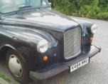 An old london taxi used as a runabout.